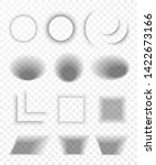 transparent realistic paper... | Shutterstock .eps vector #1422673166