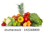 assortment of fresh fruits and... | Shutterstock . vector #142268800