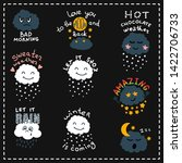 funny weather forecast icon set ... | Shutterstock .eps vector #1422706733