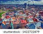 aerial view to the tallinn  the ... | Shutterstock . vector #1422722879