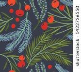 seamless vector floral pattern. ...   Shutterstock .eps vector #1422736550