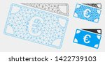 mesh euro banknotes model with... | Shutterstock .eps vector #1422739103