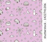 cute eid mubarak seamless... | Shutterstock .eps vector #1422741206