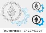 mesh ethereum options cogwheel... | Shutterstock .eps vector #1422741329