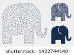 mesh elephant model with... | Shutterstock .eps vector #1422744140