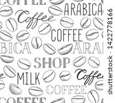 coffee seamless pattern. coffee ... | Shutterstock . vector #1422778166