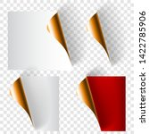 set of realistic curled paper... | Shutterstock .eps vector #1422785906