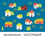 collections of houses in a... | Shutterstock .eps vector #1422796649