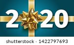 2020 happy new year blue...   Shutterstock .eps vector #1422797693