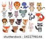 animals set in flat style ... | Shutterstock .eps vector #1422798146