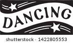 dancing 4   retro ad art banner | Shutterstock .eps vector #1422805553