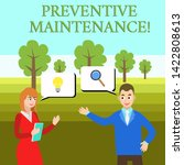 word writing text preventive... | Shutterstock . vector #1422808613