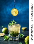 Fresh mojito cocktail with lime ...