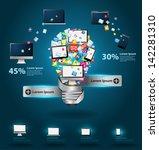technology business software... | Shutterstock .eps vector #142281310