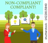 word writing text non compliant ... | Shutterstock . vector #1422815840