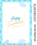 happy summer sale a4 banner... | Shutterstock .eps vector #1422823076