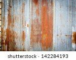 Tin Roof Abstract Rusty In The...