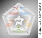 business infographics  geometry ... | Shutterstock .eps vector #1422842453