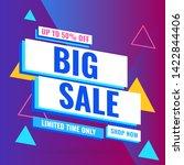 promotion sale banner template... | Shutterstock .eps vector #1422844406