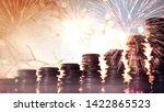 double exposure of fireworks... | Shutterstock . vector #1422865523