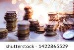 double exposure of fireworks... | Shutterstock . vector #1422865529