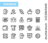 finance icon set  outline style | Shutterstock .eps vector #1422865640