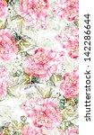 peonies seamless pattern | Shutterstock . vector #142286644