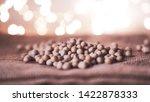 soy beans on blurred bokeh... | Shutterstock . vector #1422878333