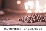 soy beans on blurred bokeh... | Shutterstock . vector #1422878336