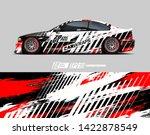 car wrap decal design concept.... | Shutterstock .eps vector #1422878549