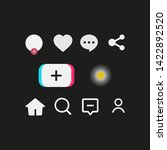stories interface set icons.... | Shutterstock .eps vector #1422892520