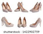 Set Of Stylish High Heel Shoes...