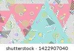 memphis pattern. geometric... | Shutterstock .eps vector #1422907040