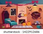 halloween interior  empty scary ... | Shutterstock .eps vector #1422912686