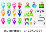 set of maps pin  locating... | Shutterstock .eps vector #1422914339
