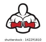 corpo,musculação,afogamento,lutador,luvas,mãos,cabeça,ícone,ilustração,mui tailandês,músculo,anatomia dos músculos,homem musculoso,estrutura de tópicos,imagem
