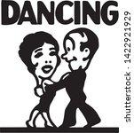 dancing 5   retro ad art... | Shutterstock .eps vector #1422921929