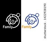simple family logo line concept ...   Shutterstock .eps vector #1422928190