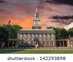 independence hall national... | Shutterstock . vector #142293898
