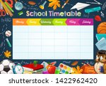 school timetable  weekly... | Shutterstock .eps vector #1422962420
