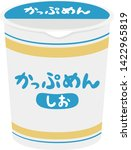 illustration of instant noodles.... | Shutterstock .eps vector #1422965819