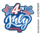 text 4th of july. independence... | Shutterstock .eps vector #1422985889