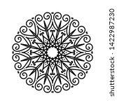 floral round sketch. ethnic... | Shutterstock . vector #1422987230