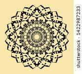 floral round decorative symbol. ... | Shutterstock . vector #1422987233