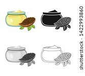 vector illustration of cacao... | Shutterstock .eps vector #1422993860