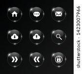 vector set of glass  buttons... | Shutterstock .eps vector #1423007966
