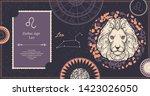 zodiac sign leo. the symbol of... | Shutterstock .eps vector #1423026050