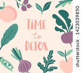 time to detox. concept with... | Shutterstock .eps vector #1423039850
