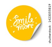 smile more hand drawn lettering....