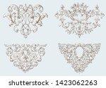 set of vintage decorative... | Shutterstock .eps vector #1423062263